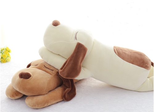 21.6 inch dog plush pillow stuffed animal pet pillow, soft large puppy plush hug sleeping pillow toy