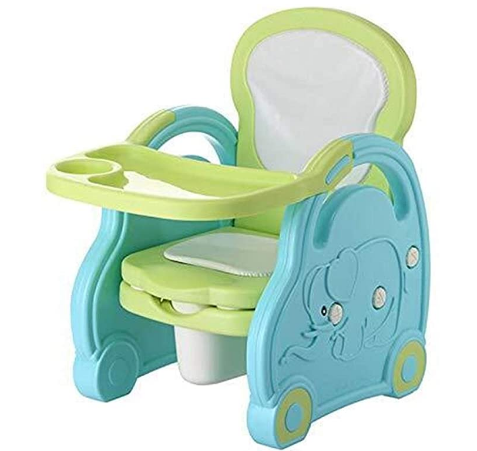 Multifunctional Children's Dining Chair Portable Toilet Toilet Potty Green PP Material