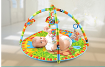 Infant crawling mat game mat thickened carpet newborn baby fitness rack music rattle step crawling toy