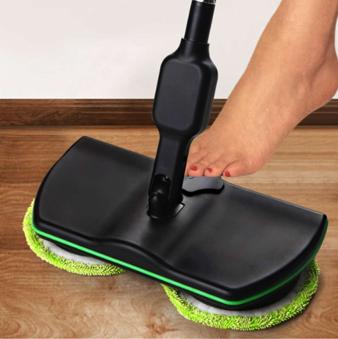 Rechargeable 360 degree rotating wireless floor cleaner scrubber polishing machine electric rotating mop microfiber cleaning mop