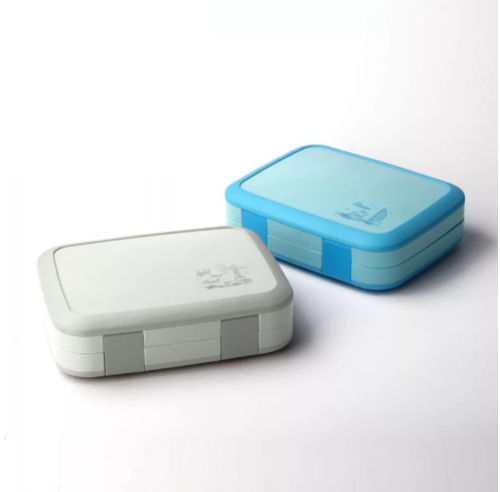 Cartoon bento box, children with separated compartments, leak-proof bento box, microwave food box, free of BPA and food safety materials