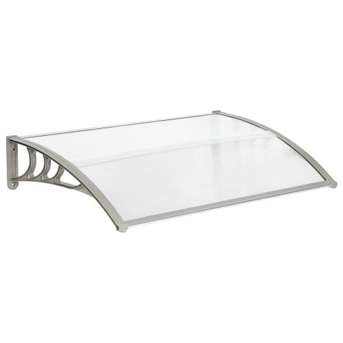 150 x 100 Household Application Door & Window Rain Cover Eaves Canopy White & Gray Bracket
