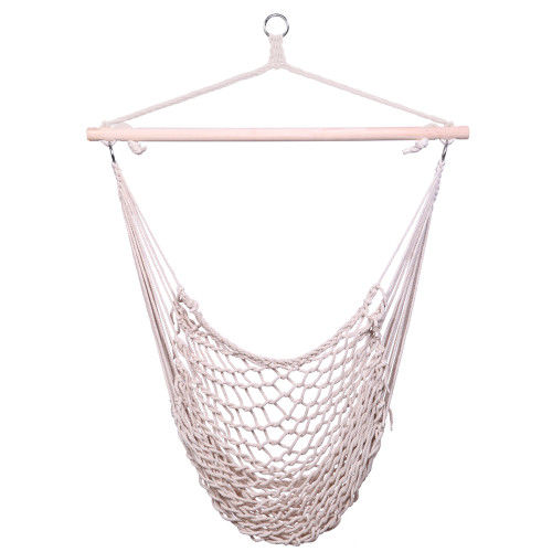 Cotton Hanging Rope Air/Sky Chair Swing beige(In stock in the US)