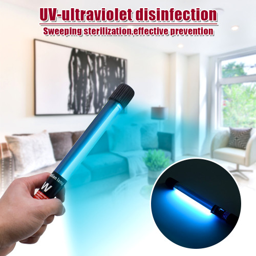 110V Portable 11W Handheld Ultraviolet UV Disinfection Lamp Power Cord Length 1.1M US Regulations Black(In stock in the US)
