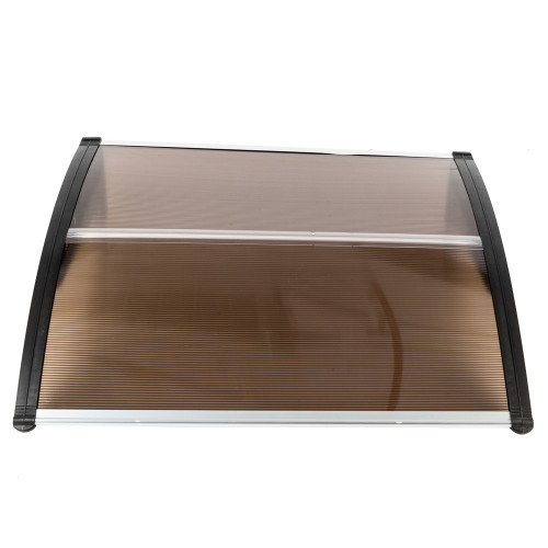 [US-W]HT-100 x 100 Household Application Door & Window Rain Cover Eaves Brown Board & Black Holder(In stock in the US)