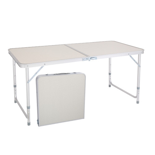 120 x 60 x 70 4Ft Portable Multipurpose Folding Table White(In stock in the US)