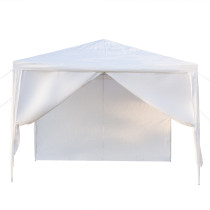 3 x 3m Four Sides Portable Home Use Waterproof Tent with Spiral Tubes White(In stock in the US)