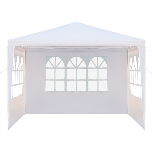 [US-W]3 x 3m Three Sides Waterproof Tent with Spiral Tubes White(In stock in the US)