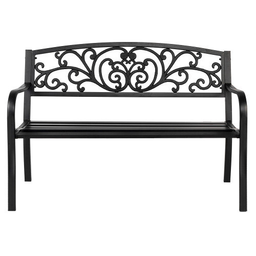 50  Iron Outdoor Courtyard Decoration Park Leisure Bench(In stock in the Us)