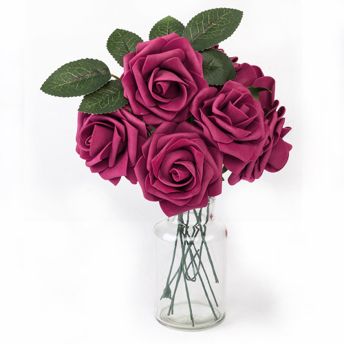 50pcs PE Foam Rose Flower