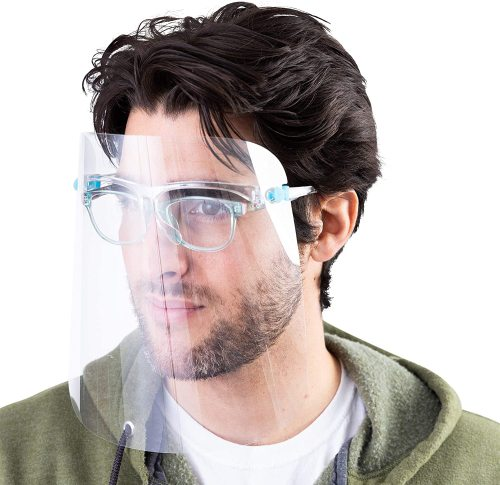 Safety Goggle Face Shield, Clear Anti-Fog Face Visor Protect Eyes and Face from Droplet (In stock in the US)