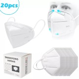 20 PCS Kn95 mask Regular Masks Bagged Air Purifying Dust Pollution Vented Respirator Face Mouth Masks