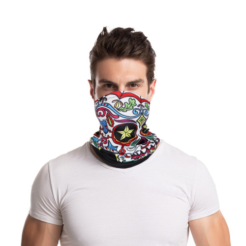 Three SA-UV masks,Face shield, multi-functional neck protection for men and women, flexible masks, reusable