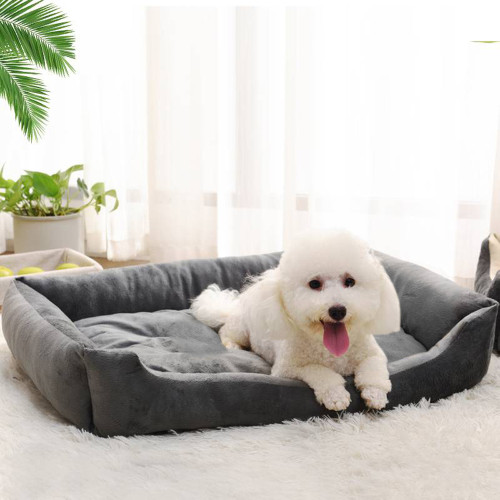 38''Wadding Bed Pad Mat Cushion for Dog Cat Pet Gray