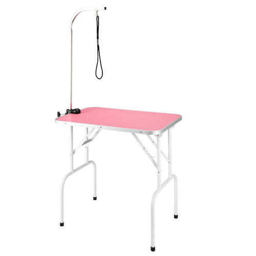 32  Foldable Pet Grooming Table with Adjustable Arm