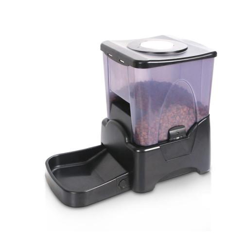 High Capacity Portion Control Automatic Pet Feeder Food Dispenser Black