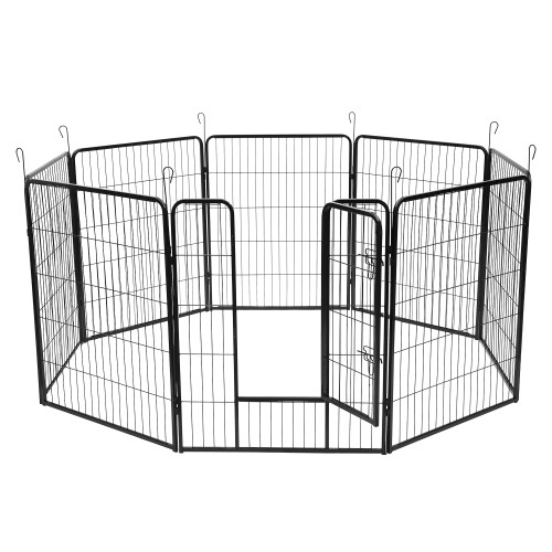 40''Dog Pet Playpen Heavy Duty Metal Exercise Fence Hammigrid 8 Panel