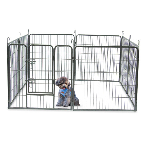 32''Dog Pet Playpen Heavy Duty Metal Exercise Fence Hammigrid 8 Panel