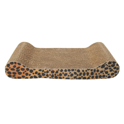 Corrugated Paper Pet Cat Toy Cat Sofa Flat Claws Grinding Board with Catnip (Small Size) Eart