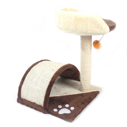 19''Sisal Hemp Cat Tree Brown