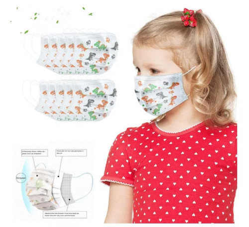 3 layers of inorganic cloth,Kids face mask, disposable mask, cloth cover, washable, breathable, anti-fog and dust,