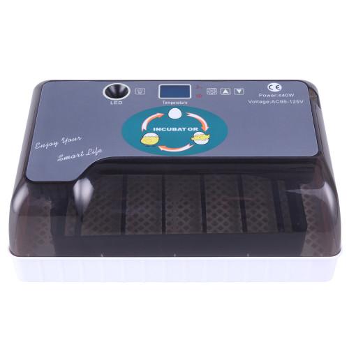 12-Egg Adjustable Egg Tray Practical Fully Automatic Poultry Incubator Set US Plug