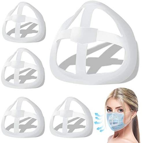 3D Face Inner Bracket for Comfortable Breathing, Inner Support Frame|Under Frame Lipstick Protector Keep Fabric off Mouth to Create More Breathing Space[Washable|Reusable|Translucent,10Pcs]