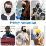 Black KN95 Face Masks 20 Pcs, in FDA CDC List, Filter Efficiency≥95% 5 Layers Masks
