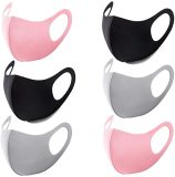 6 Pcs Unisex Protective Cover,Washable Reusable Dust Cover for Protection,Suitable for Summer (3 Colors)