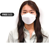 White Disposable KF94 Face Masks 20 Pcs, 4 Layer Filters, Made in Korea