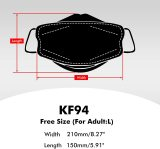 Black Disposable KF94 Face Masks 20 Pcs, 4 Layer Filters, Made in Korea