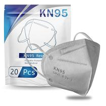 Grey KN95 Face Masks 20 Pcs, in FDA CDC List, Filter Efficiency≥95% 5 Layers Masks