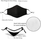 3 Pcs Unisex Reusable Cotton Adjustable Protective Face Protector 4 Ply, With 10 Pcs Replacement Filters