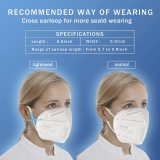 White KN95 Face Masks 20 Pcs, in FDA CDC List, Filter Efficiency≥95% 5 Layers Masks