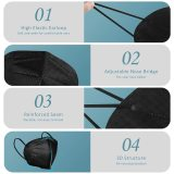 Black KN95 Face Masks 20 Pcs, in FDA CDC List, Filter Efficiency≥95% 5 Layers Masks