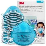 3M 1860 N95 Classic Disposable Particulate Cup Respirator, Standard (Pack of 20 Masks)