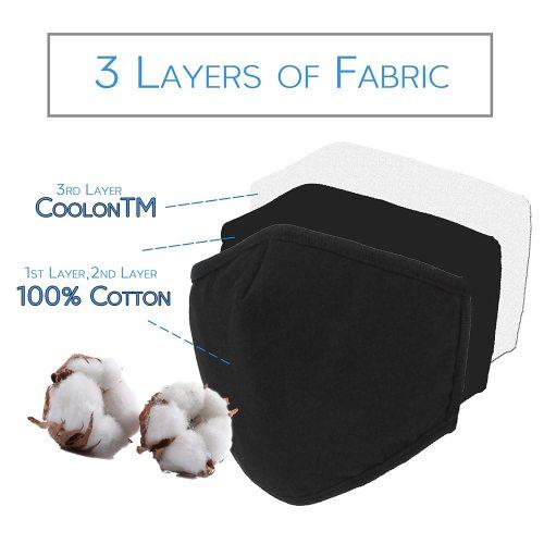 10 Pcs Reusable Cotton Fabric,Fashion Protective, Unisex Black Dust Cotton, Washable