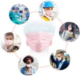 50 Pcs Disposable Face Cover 3-Ply Medical Breathable Earloop Masks Stretchable Elastic Ear Loops (Pink)
