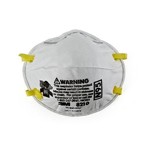 3M 8210 N95 Classic Disposable Particulate Cup Respirator, Standard (Pack of 20 Masks)