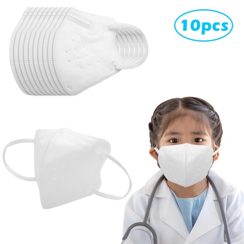 10 Pcs KN95 Masks Air Purifying Dust Pollution Vented Respirator Face Mouth Masks For Children