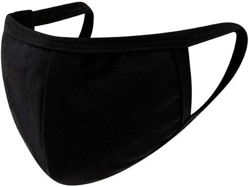 5 Pack Kids Reusable, Washable Black Facial Cotton Covering Children Face Masks