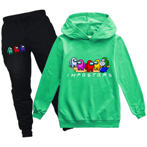 Boys Girls Sweatsuit Among US 2 Pieces Cotton Hoodie and Sweatpants Suit