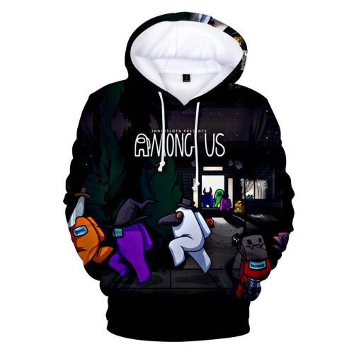 Among US 3-D Print Hoodie Unisex Youth Adults Hooded Long Sleeve Sweatshirt