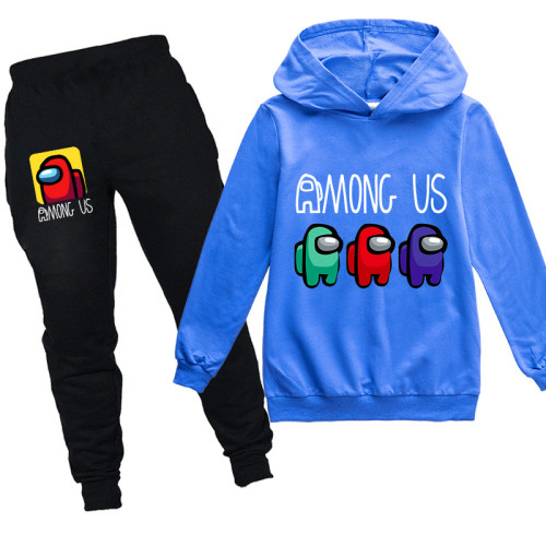 Among US Kids Autumn Sweatsuit Long Sleeve Hooded Sweatshirt and Sweatpants Suit