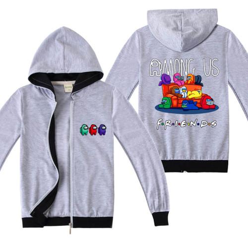 Among US Kids Zipper Jacket Long Sleeve Hooded Fall Outfit