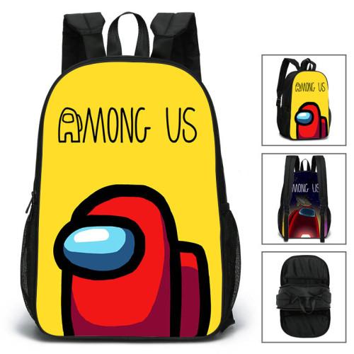 Among US Kids Students Double Side Backpack Unisex Shcool Backpack