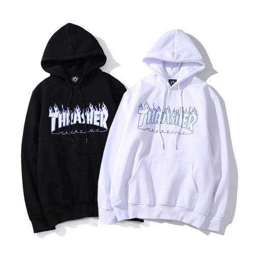 Adults Thrasher Blue Flame Print Hoodie Unisex Pullover Sweatshirt