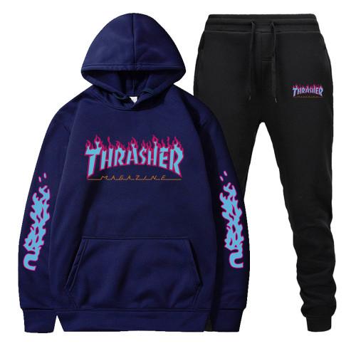 Adults Thrasher Hoodie and Jogger Pants Set Fashion Unisex Sweatsuit