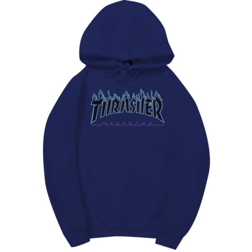 Trasher Fashion Flame Print Adults Youth Unisex Hoodie Pullover Sweatshirt
