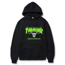Thrasher Flame Hoodie Unisex Classic Flame Print Fashion Sweatshirt